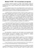 Imagine document Relatia NATO - UE si securitatea Europeana