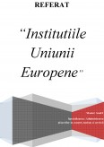 Imagine document Institutiile Uniunii Europene