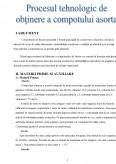 Imagine document Proces Tehnologic de Obtinere a Compotului Asortat