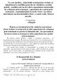 Devolutiunea succesorala testamentara din punctul de vedere al dreptului romanesc