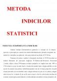 Imagine document Metoda Indicilor Statistici