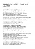 Imagine document Candle In The Wind 1997