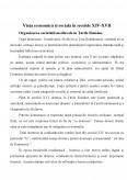 Viata Economica si Sociala in Secolele XIV-XVII