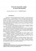 Protectia Drepturilor Omului in Context International