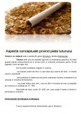 Imagine document Aspecte conceptuale privind piata tutunului