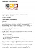 Imagine document SC Pro Construct S.R.L.