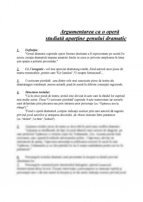 Referat: Demonstratia Apartenentei Unei Opere Literare La ...