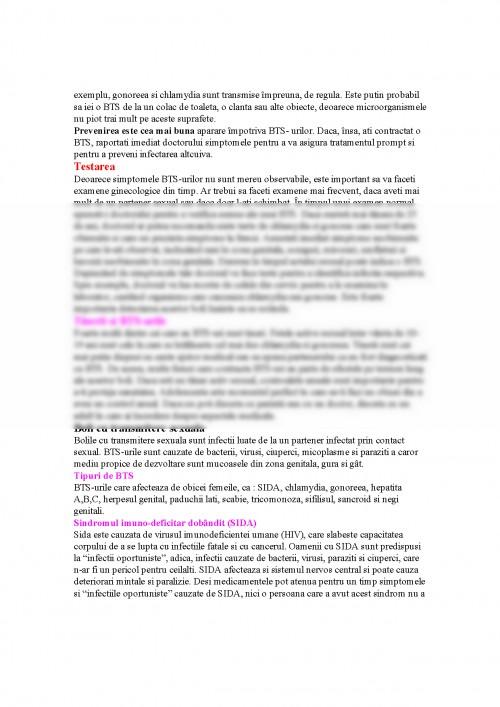 Boli cu transmitere sexuala sida referat