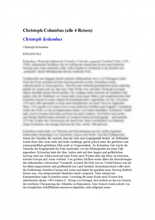 Fabelhaft Referat: Christoph Columbus Alle 4 Reisen Einleitung (#340170 #IQ_94