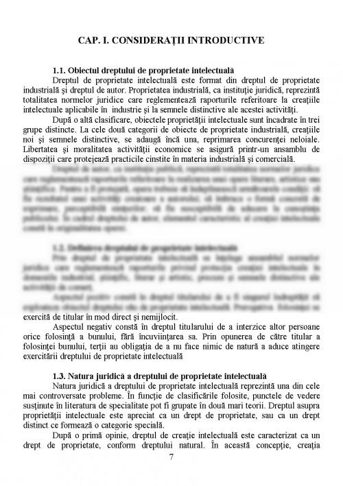 Curs: Dreptul Proprietatii Intelectuale (#437738) - Graduo