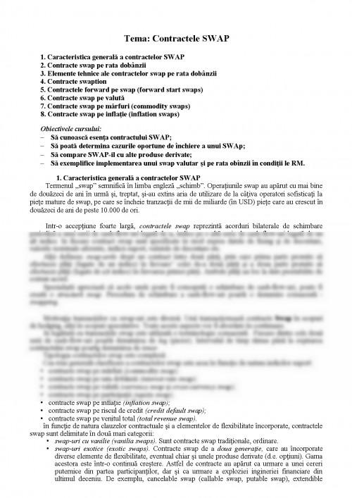 opțiuni și acorduri de swap)