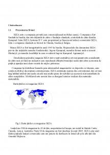 Proiect Analiza Situationala Pentru Compania Sc Ikea Romania Srl